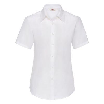 Рубашка женская SHORT SLEEVE OXFORD SHIRT LADY-FIT 130, белый
