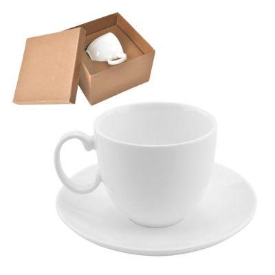Чайная пара 'Романтика' в подарочной упаковке, белый