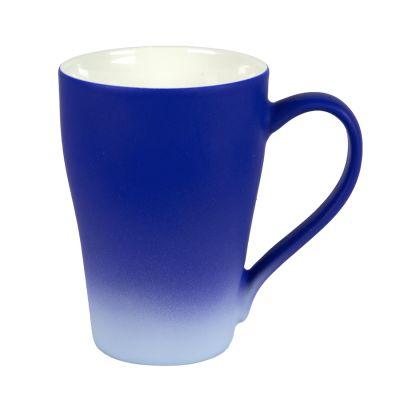 Кружка GRADE с прорезиненным покрытием, синий