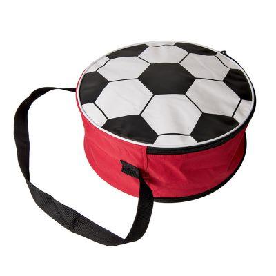 Сумка футбольная, диаметр 36 см, белый, красный