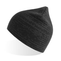 Шапка вязаная SHINE светоотражающая из материала rPET/рециклированного полиэстера, черный