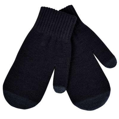 Варежки сенсорные 'In touch',  черный, М, акрил 100%.  шеврон