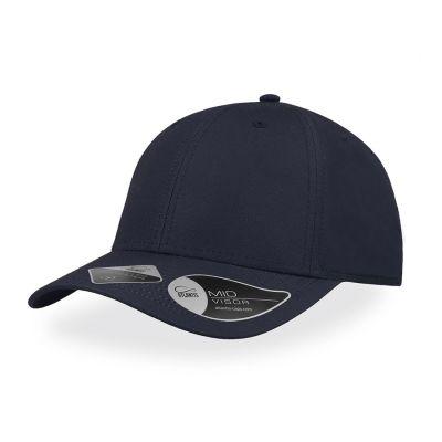 Бейсболка RECY FEEL, 6 клиньев, пластиковая застежка, темно-синий