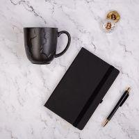 Набор подарочный BLACKNGOLD: кружка, ручка, бизнес-блокнот, коробка со стружкой, черный
