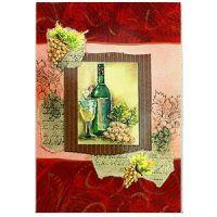 Открытка поздравительная 'Вино', разные цвета