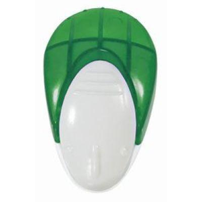 Мемо-холдер на липучке с держателем для авторучки, зеленый, серебристый