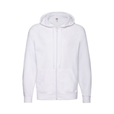 Толстовка без начеса 'Lightweight Hooded Sweat',  белый, M, 80% х/б 20% полиэстер, 240 г/м2