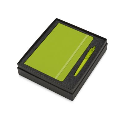 Подарочный набор Vision Pro soft-touch с ручкой и блокнотом А5, зеленый
