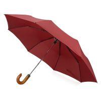 Зонт складной Cary , полуавтоматический, 3 сложения, с чехлом, бордовый