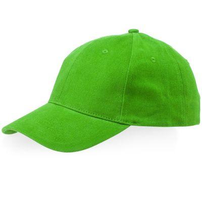 Бейсболка Bryson, 6 панелей, зеленое яблоко