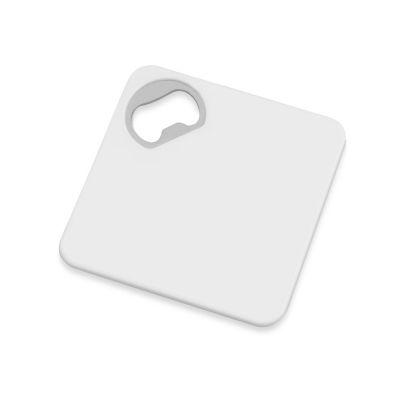Подставка для кружки с открывалкой Liso, черный/белый