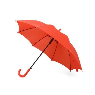 Зонт-трость Edison, полуавтомат, детский, красный