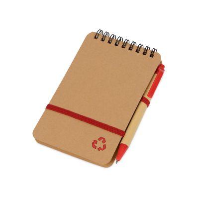 Набор канцелярский с блокнотом и ручкой Masai, красный