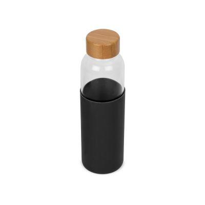 Бутылка для воды стеклянная Refine, в чехле, 550 мл, черный