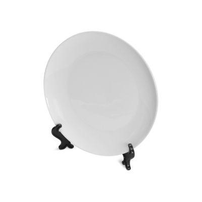 Тарелка керамическая, d20 см, для сублимации, белый