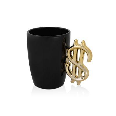 Кружка Доллар, черный/золотистый (Р)