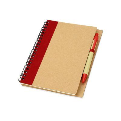 Блокнот Priestly с ручкой, красный
