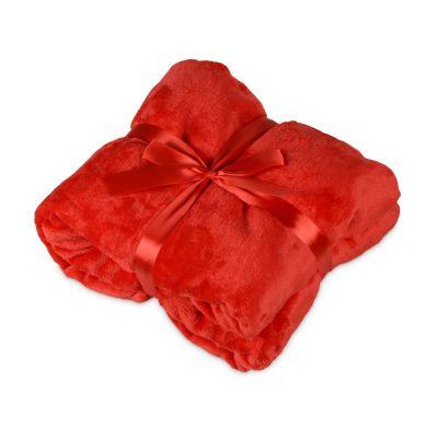Плед мягкий флисовый Fancy, красный