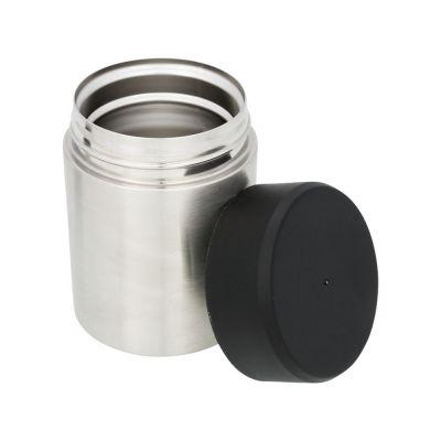Пищевой контейнер Food, серебристый/черный