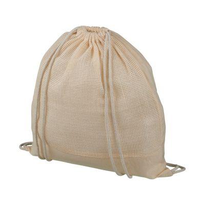 Рюкзак со шнурком из сетчатого хлопка Maine, natural