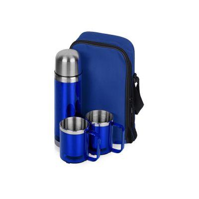 Набор Походный: термос, 2 кружки, синий (Р)