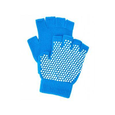 Перчатки противоскользящие для занятий йогой, голубой