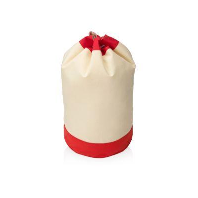 Рюкзак-мешок Indiana хлопковый, 180гр, натуральный/красный