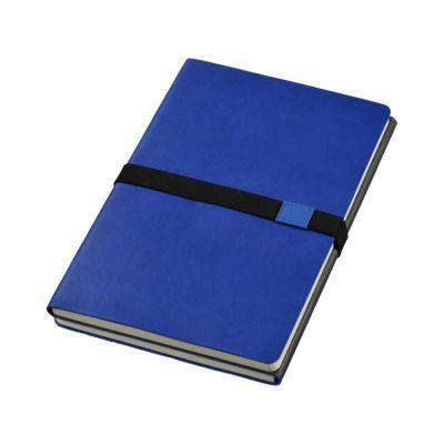 Блокнот А5 Doppio, темно-синий/серый