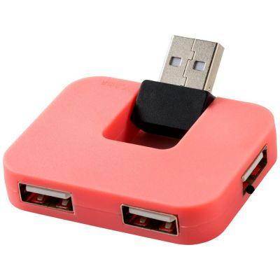 USB Hub Gaia на 4 порта, розовый