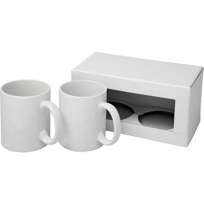 Подарочный набор из 2керамических кружек, белый