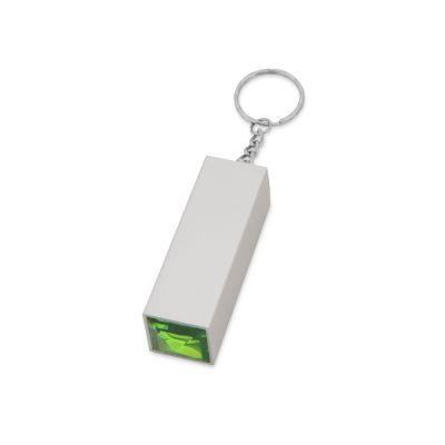 Брелок с маникюрным набором, серебристый/зеленый