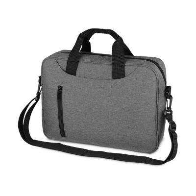Сумка для ноутбука Wing с вертикальным наружным карманом, серый
