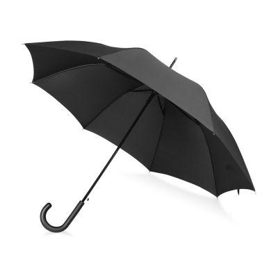 Зонт-трость Wind, полуавтомат, черный