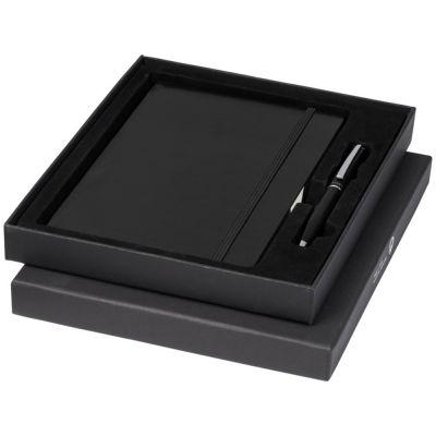 Подарочный набор Falsetto из блокнота форматаА5 и ручки, черный