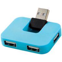 USB Hub Gaia на 4 порта, синий