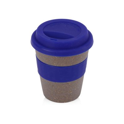 Стакан с силиконовой крышкой Café, синий