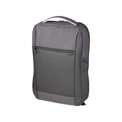 Изящный компьютерный рюкзак с противоударной защитой Zoom 15, темно-серый