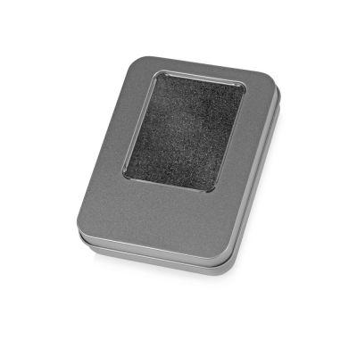 Подарочная коробка для флеш-карт Сиам, серебристый