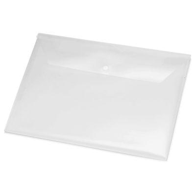 Папка-конверт А4 с кнопкой, прозрачный
