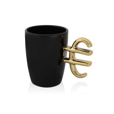 Кружка Евро, черный/золотистый (Р)