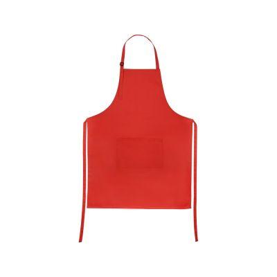 Хлопковый фартук 180gsm, красный