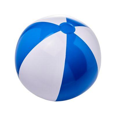 Непрозрачный пляжный мяч Bora, синий/белый