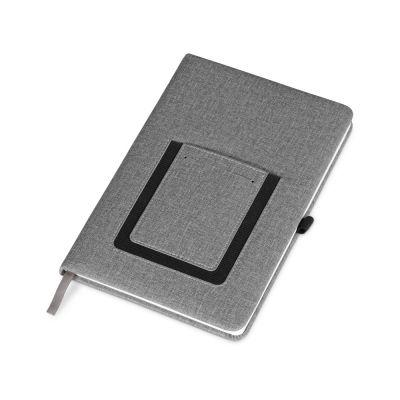 Блокнот Pocket 140*205 мм с карманом для телефона, серый