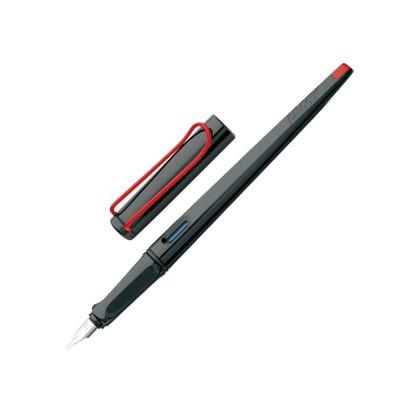 Ручка перьевая 015 joy, Черный/красный клип, 1.9 mm