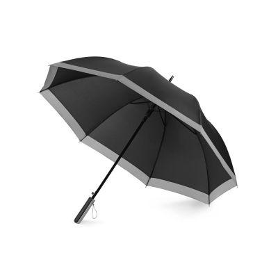 Зонт-трость Reflect полуавтомат, в чехле, черный