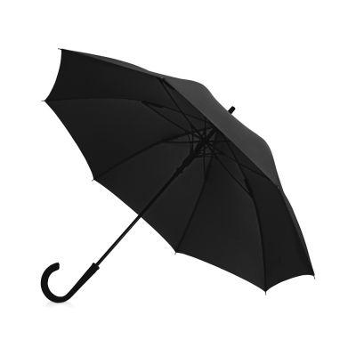 Зонт-трость Bergen, полуавтомат, черный