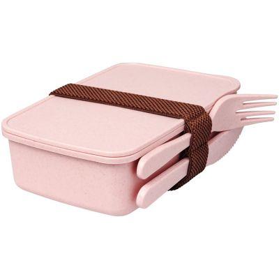 Ланч-бокс Bamberg из бамбукового волокна, розовый