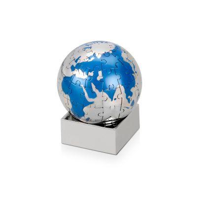Головоломка Земной шар, серебристый/голубой