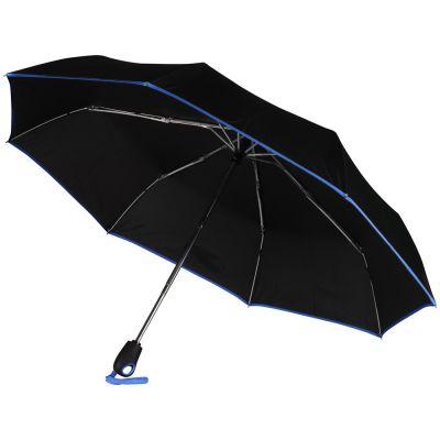 Зонт складной Уоки, черный/синий (Р)