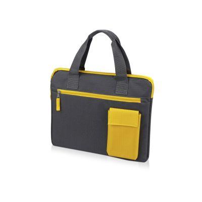 Конференц сумка Session, серый/желтый